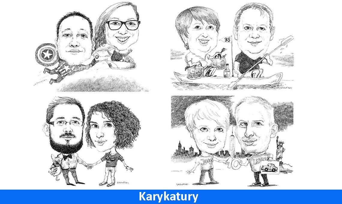karykatury portrety karykatura