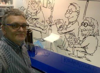 karykaturzysta na targi atrakcje